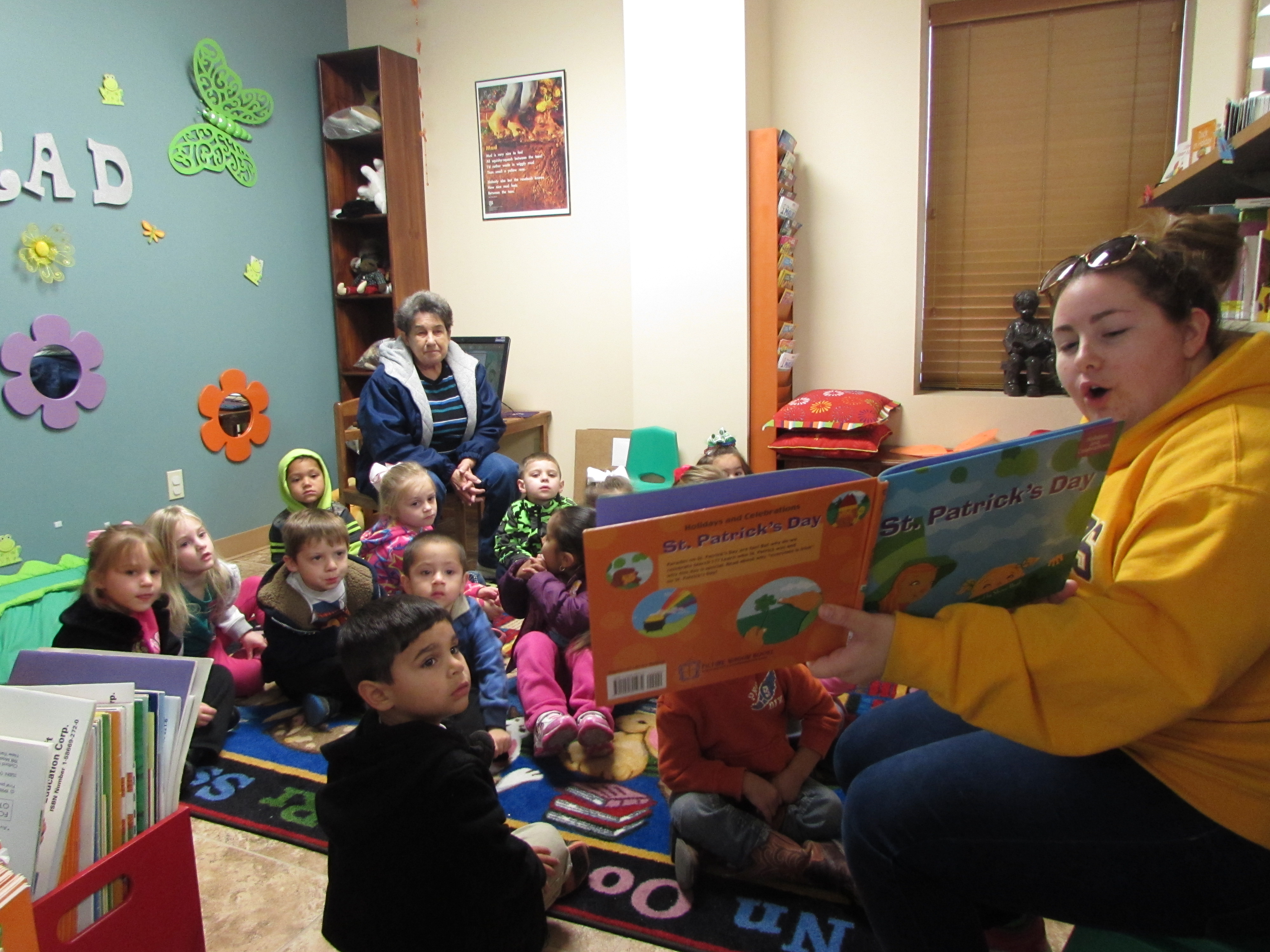 Grand Lake Headstart enjoying story time at the Cameron Parish library Grand Lake Branch