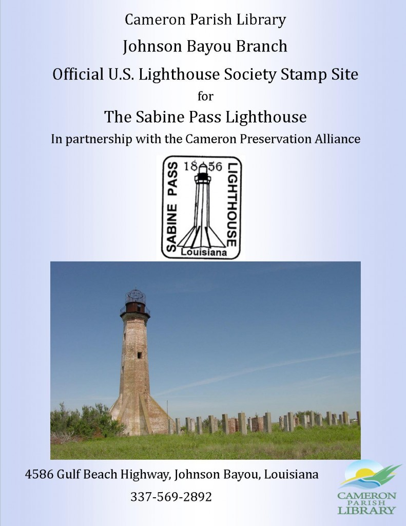 Flyer Sabine Pass Lighthouse Stamp Site
