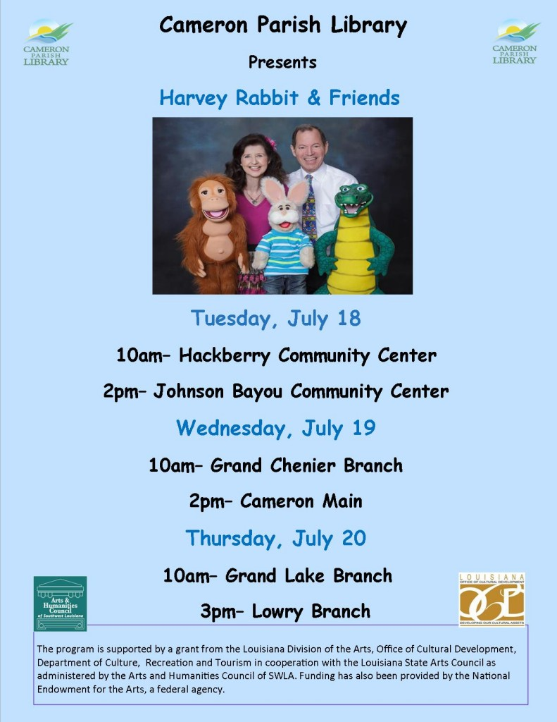Harvey Rabbit flyer all branches July 2017