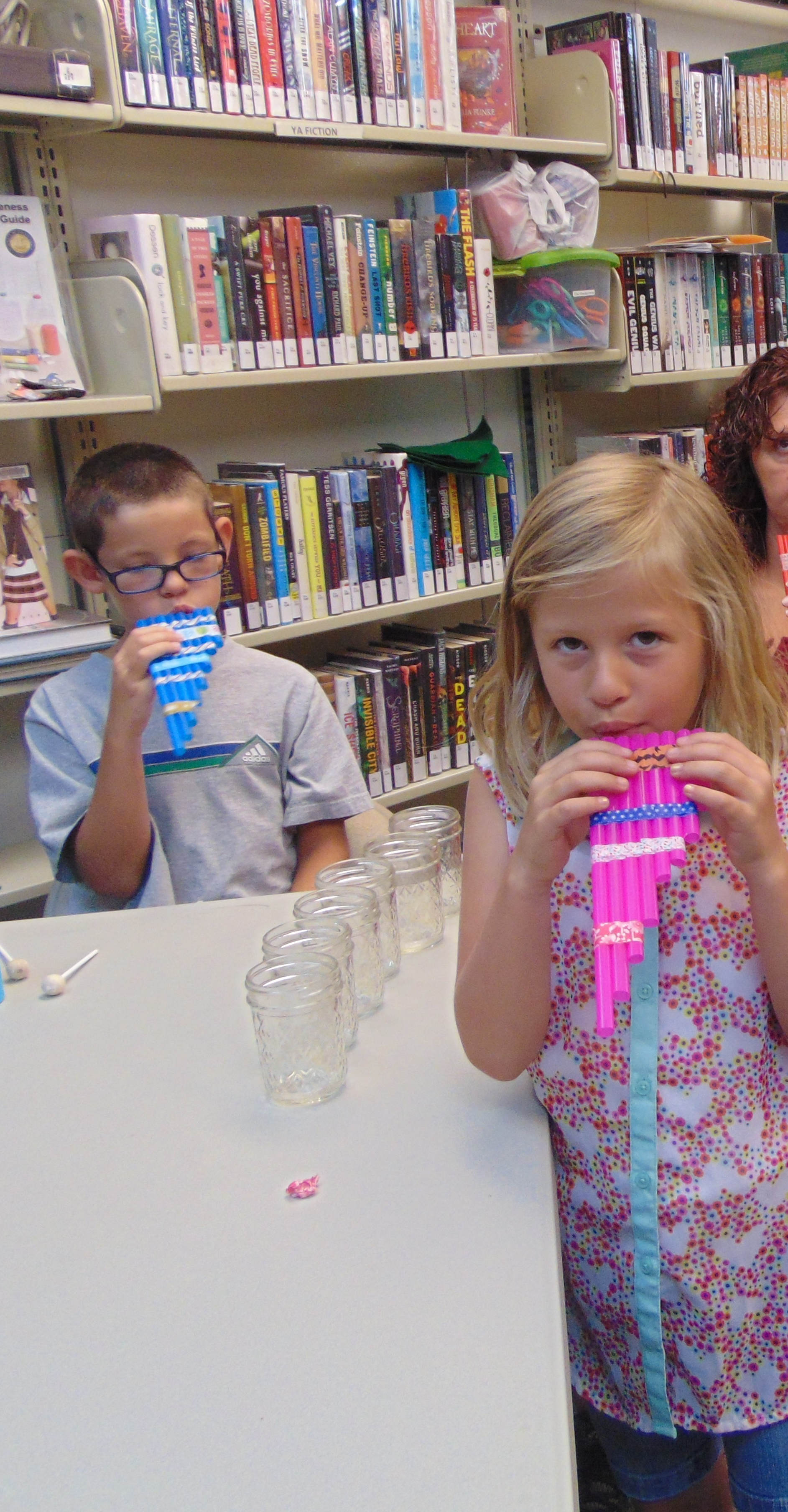 HB Friday Crafts Children's Wind Flutes  6-8-2018 013