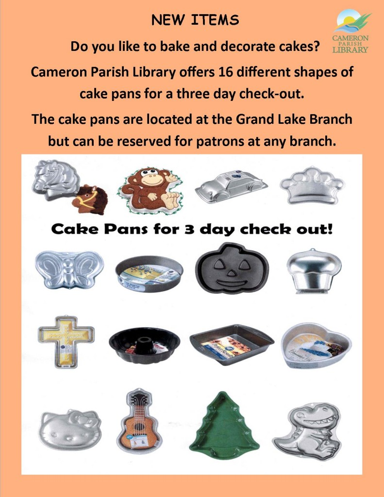 Cake pans for check-out