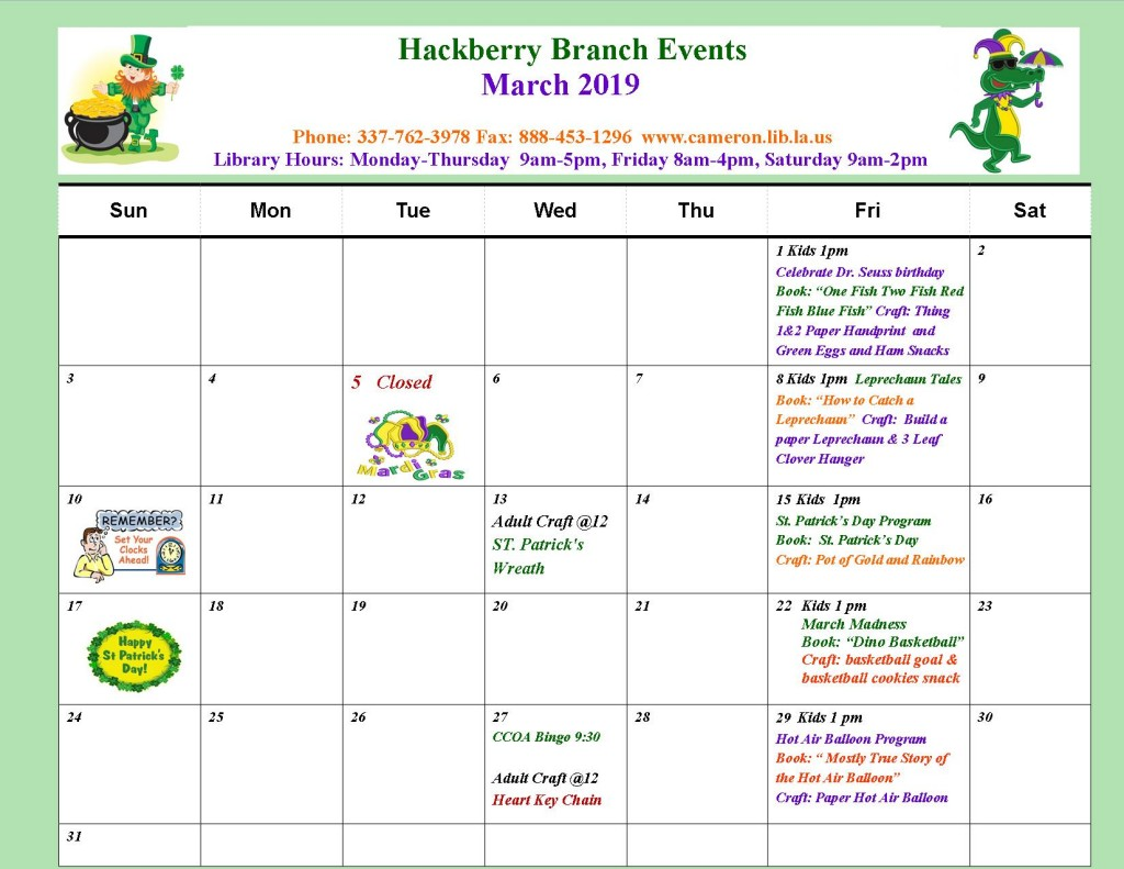 HB_ March Events 19