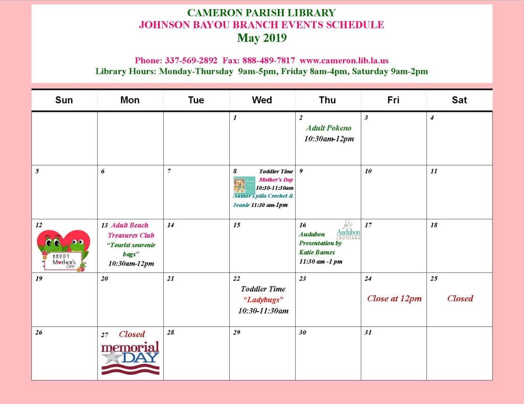 JB_ May 2019_ event calendar